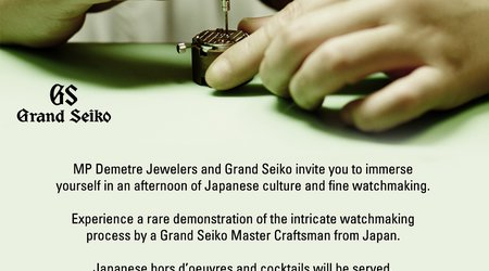 Grand Seiko Watch Event – October 24, 6-8pm at MP Demetre Jewelers!